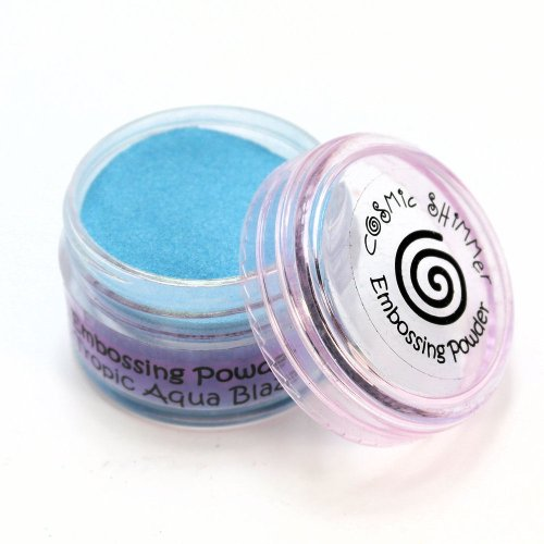 Unbekannt Cosmic Shimmer Blaze Embossing-Pulver, Tropic Aqua (Pulver Emboss)