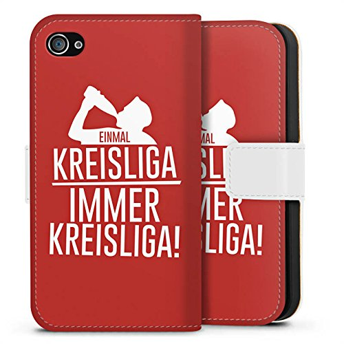Apple iPhone X Silikon Hülle Case Schutzhülle Einmal Kreisliga Fußball Sprüche Sideflip Tasche weiß