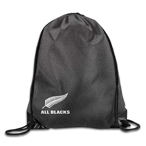 GONIESA Fashion Unisex Gym Bag All Blacks Rugby Union Team Unisex Drawstring Bag Backpack,Sport Bag