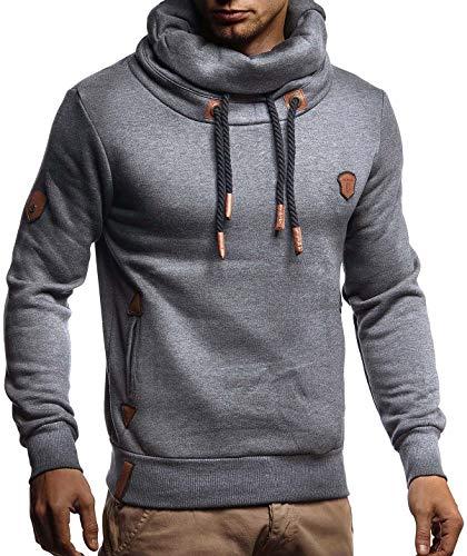 LEIF NELSON Herren Pullover-Hoodie Schalkragen | Moderner Sweatshirt-Kapuzenpullover | Männer Pulli Slim Fit|8230;L,AN
