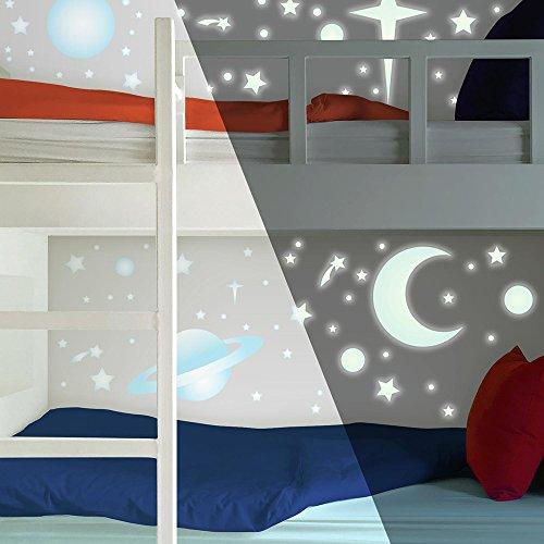 Celestial-wand-dekor (RoomMates 54231 Leuchtende Sterne)