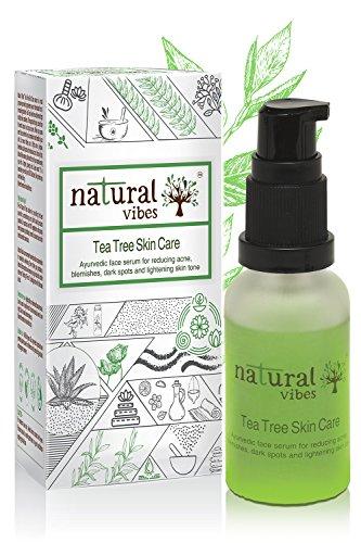 [Sponsored]Natural Vibes ~ Ayurvedic Tea Tree Skin Repair Serum 30 Ml ~ Reduces Acne, Blemishes, Dark Spots And Lightens...