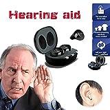 EUUHJK Anziani Ricarica Interiore Orecchio Invisibile Apparecchi Acustici Regolabile Wireless Mini Hearing