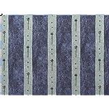 Tela de tapicería, tela de tapicería, tela de tapicería, tela, tela de la cortina, tela de algodón pesado moderado - azul de línea moderna, Timba, - en una mirada de lino