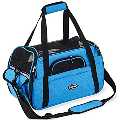 Bienven Airline Approved Soft Sided Pet Carrier?Travel Tote with Fleece Pad, Premium Zippers & Metal Safety Clasp, Under Seat Compatibility, for Cats, Small Dogs from Bienven