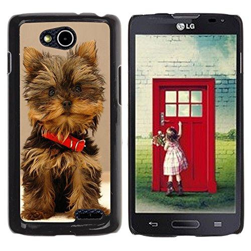 DREAMCASE Hart Handy SchutzHülle Hülle Schale Case Cover Etui für LG OPTIMUS L90 D415 - Cute Yorki Yorkie Terrier Dog