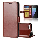 Casefirst Doogee X30 Case, Doogee X30 Leather Case Folio Flip Cover Pouches Slim Shell for Doogee X30 (Brown)