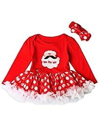 Ropa Bebé , Amlaiworld Bebé recién nacido niñas princesa Santa Claus tutú Vestido Conjuntos de trajes de Navidad 0-24 Mes