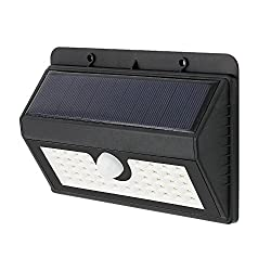 HOME CUBE 45 LED Solar Wall Light Outdoor LED Lights Waterproof IP65 Wireless PIR Motion Sensor Solar Powered Garden Lamp - Black Color
