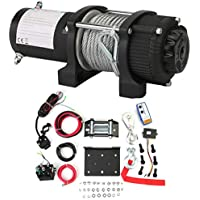 yesper 12V eléctrica Cabestrante 1814kg/4000lbs Motor Torno Offroad + placa de montaje inalámbrico mando a distancia
