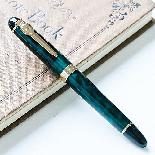 Neue Version JINHAO X450 Füllfederhalter Luxus 18KGP M Nib kalligraphie füller hochwertige schreibgeräte (Grün)