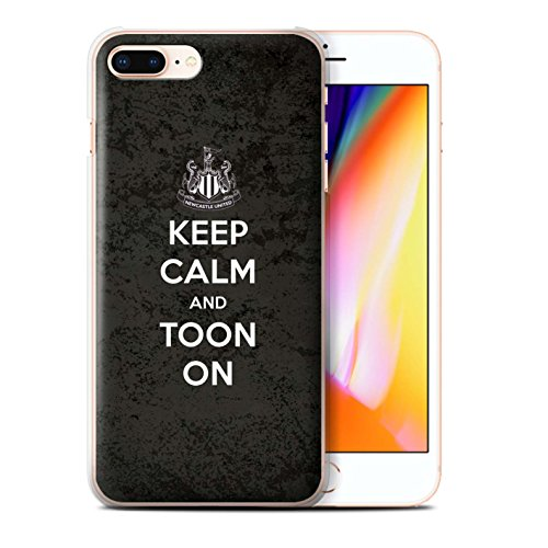 Offiziell Newcastle United FC Hülle / Case für Apple iPhone 8 Plus / Unterstützung Muster / NUFC Keep Calm Kollektion Toon On