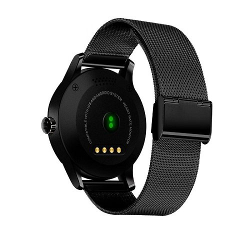 Smartwatch K88H Bluetooth Cardiofrequenzimetro orologio compatibile Android e Ios nero