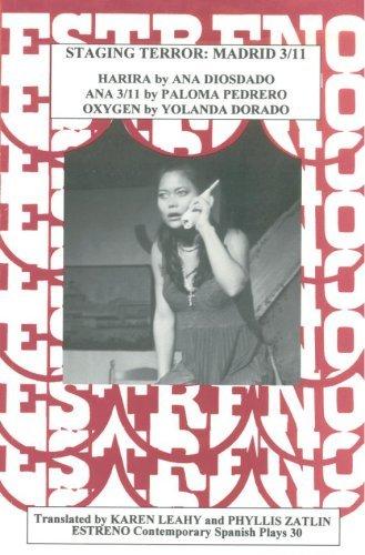 Portada del libro Staging Terror: Madrid 3/11 (Estreno Contemporary Spanish Plays, 30) by Ana Diosdado (2007-03-01)