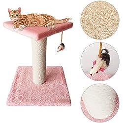 Maxmer Postes Rascadores Gatos Rascador Torre Gatos, Color Rosado