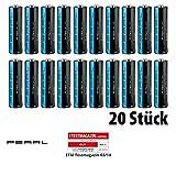 PEARL Batterieset: Super-Alkaline-Batterien Mignon 1,5V Typ AA, 20 Stück (Batterien 1 5 Volt)