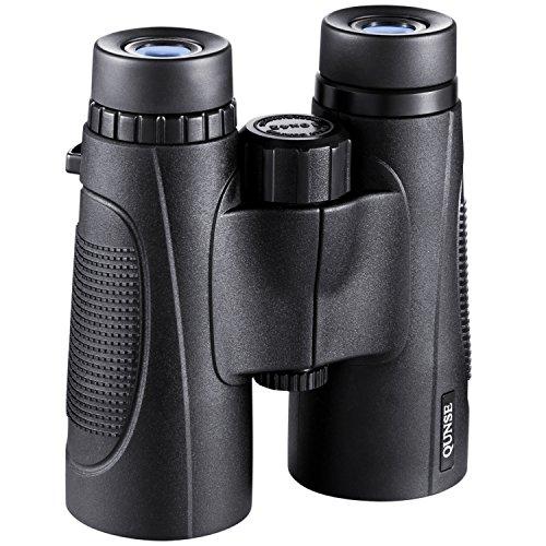 QUNSE Fernglas Kompakt, 10X42 HD Professional, Bak4 Dachkantprismen und FMC Optische Linsen für...