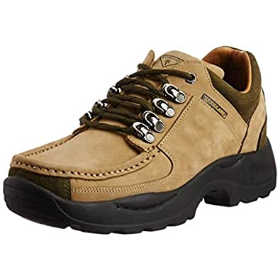 Woodland Men'S Khaki Leather Boots( Size :-11 Uk): Buy ...