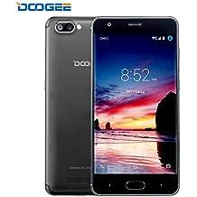 Moviles Libre, DOOGEE X20 Smartphone Libres, 3G Android 7.0 Telefonos (5.0 Pulgadas HD IPS Pantalla, MT6580 mali-400 Quad core, 1GB RAM + 16GB ROM, 5MP Cámara, 86°Gran Angular, Batería de 2580mAh, Dual SIM) - Negro
