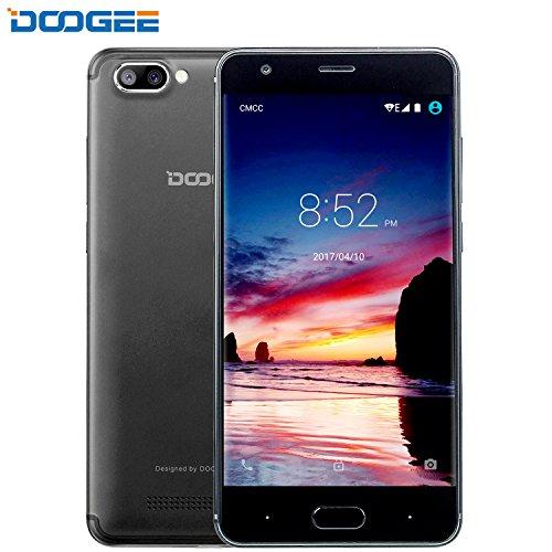 Telephone Portable Debloqué, DOOGEE X20 Smartphone Pas Cher, 3G Android 7.0 Téléphone (Écran 5 Pouce IPS, MT6580 Quad Core, 1GB RAM + 16GB ROM, Double SIM, 5MP Caméra, 2580mAh) - Noir