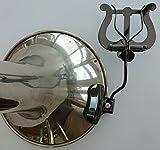 Trombone Bell Collier De Serrage Lyre Noir Nickel Finition