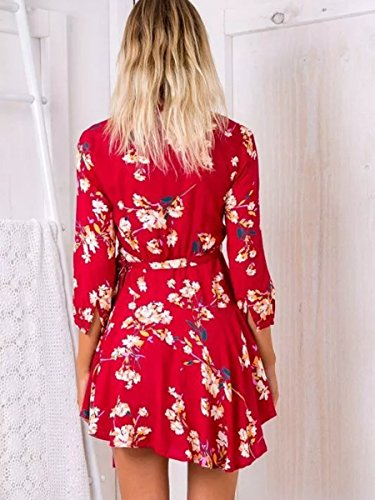 Simplee Apparel - Robe - Portefeuille - Femme red