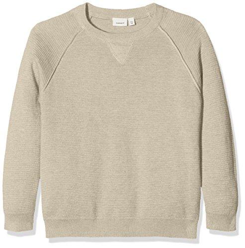 NAME IT Jungen Sweatshirt Nitiras LS Knit M Nmt, Grau (Peyote), 146 (Herstellergröße: 146-152)
