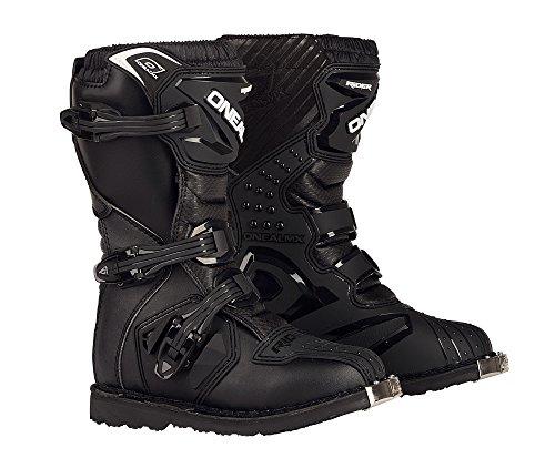 Boot Schwarz Kinder MX Stiefel Moto Cross Enduro, 0324KR-1, Größe 35 ()