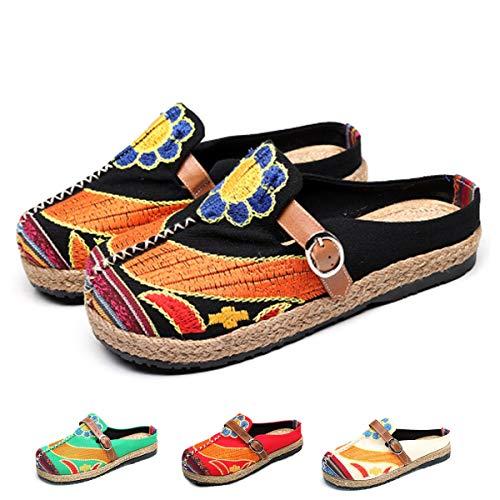 gracosy Alpargatas Zapatos de Mujer Caminando Zapatillas Plano de holg