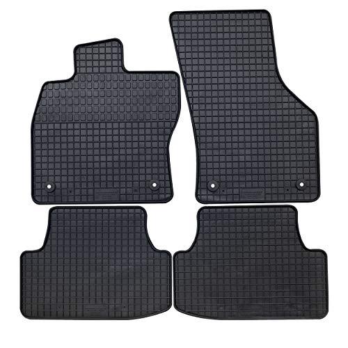 GERCAR Passgenaue Gummimatte 4-teilig in schwarz (B014) für VW Golf VII ab 11/2012, Golf VII Variant ab 08/2013, Golf VII Alltrack ab 04/2015 Passform Fußmatten inklusive Befestigungssystem