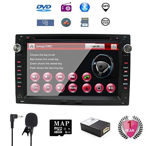 NVGOTEV Golf für Auto DAB+ Radio Auto-Stereo-GPS-Navigator für VW,Doppel-Din-Hauptgerät 7-Zoll-2-Din-Autoradio mit DVD-CD-Player Unterstützung von GPS,USB-SD,UKW-UKW-RDS, Bluetooth, SWC - Dab Auto Stereo