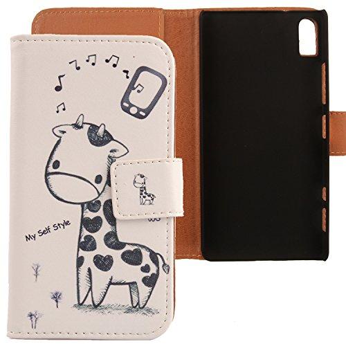 Lankashi PU Flip Leder Tasche Hülle Case Cover Schutz Handy Etui Skin Für Lenovo Vibe Shot Z90-7 5