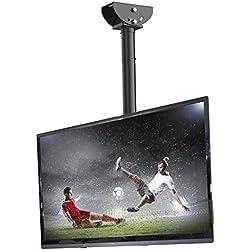 """Fleximounts CM1 Support de Plafond pour TV Inclinable 26""""-55"""" / 66-140cm s'adapte à la Plupart des Écrans Plasma Écran Plat, VESA Max 400x400mm"""