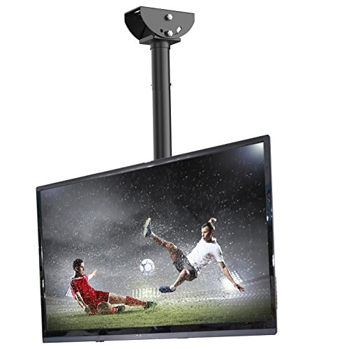 Fleximounts CM1 TV Deckenhalterung Schwenkbar Neigbar Fernseher Halterung 26-55 Zoll Monitorhalterungen Fernsehhalterung LED LCD Halter Flachbildschirm VESA 400x400 Belastung bis zu 30 kg max