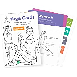 WorkoutLabs Tarjetas plásticas de Yoga con Lengua sánscrito para Principiante Estudio Visual, secuenciación de Clases, práctica con posturas, Ejercicios de respiración y meditación