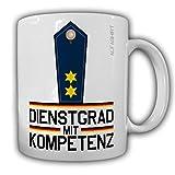 Dienstgrad mit Kompetenz Polizeioberrat Tasse Kaffeebecher Police MP Polizei #24166
