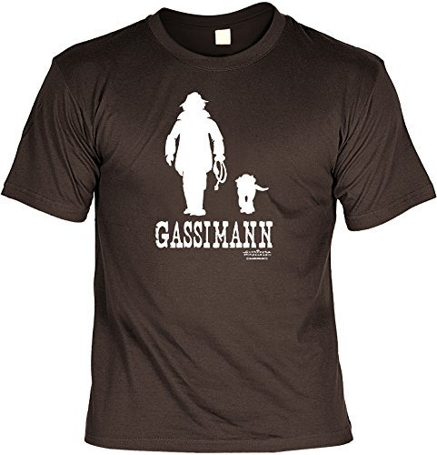 Veri Hundeversteher T-Shirt Gassimann Set Hunde T-Shirt und Urkunde - Hunde Cartoon Motiv aus einem Hundebesitzer Leben Gr. XXL in braun :