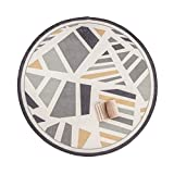 Tappeto in Nylon Antiscivolo Modello Geometrico Nordico Soggiorno Camera da Letto Divano Studio Tappeto Rotondo (Color : Diameter 180CM(71INCH))