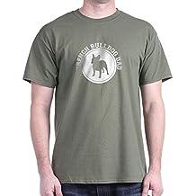 CafePress de regalo de Papá Noel Dad oscuro con forma de Bulldog Francés Dad T-camiseta de manga corta diseño de muñeco con auriculares