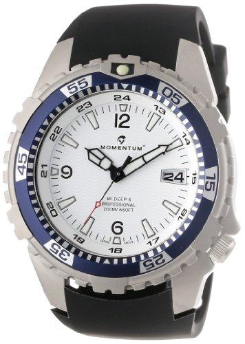Momentum Herren-Armbanduhr XL M1 DEEP 6 Analog Quarz Kautschuk 1M-DV06W4B