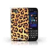 Stuff4® Hülle/Hülle für BlackBerry Q5 / Gelb Muster/Leopard Tier Haut/Print Kollektion