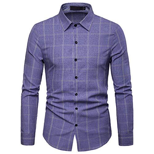 Hombre Camisa,ZODOF Camiseta Hombre Casual Manga Larga