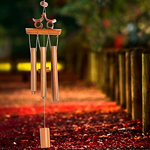 Dairyshop Carillon en bambou Grand carillon Jardin Yard Ornement Décoration Home Decor NEUF