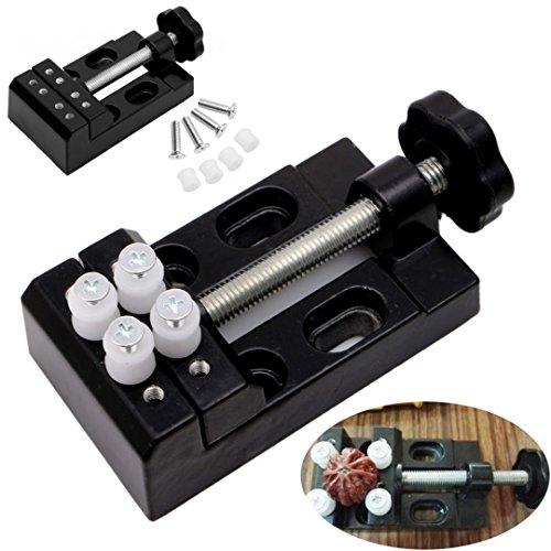 REFURBISHHOUSE 1 Stuecke Schwarze Klammerbacke Bohrmaschine Vize-Mini-Clip Schraubstock Walnusszange Mini Tischschraubstock DIY Handwerkzeug