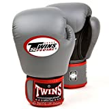 Twins special Air Flow Grey-Black Boxing Gloves Sparring Training BGVLA-2