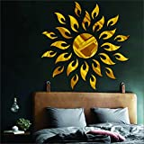 #8: Atulya Arts OFFERING - {FREE 20 3D Butterfly Wall Stickers with every order} - Sun Flame Golden(Pack of 25) 3D aCryliC stiCker, 3D aCryliC stiCkers for wall, 3D mirror wall stiCkers, 3D aCryliC wall stiCker, 3D deCorative stiCkers, 3D aCryliC home wall deCor, 3D aCryliC mirror stiCKers, 3D aCryliC mirror wall stiCkers for living room, 3D aCryliC mirror wall stiCkers for bedroom, kids room, 3D aCryliC mural for home & offiCes deCor, SUN wall stiCkers
