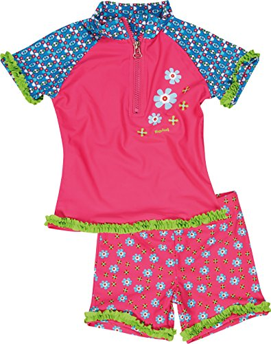 Playshoes Girl's UV Sun Protection 2 Piece Swim Set Flowers Swimsuit
