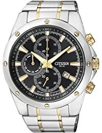 Citizen Herren-Armbanduhr Chronograph Quarz Edelstahl AN3534-51E