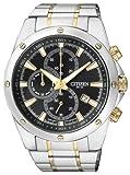 Citizen Herren Chronograph Quarz Uhr mit Edelstahl Armband AN3534-51E