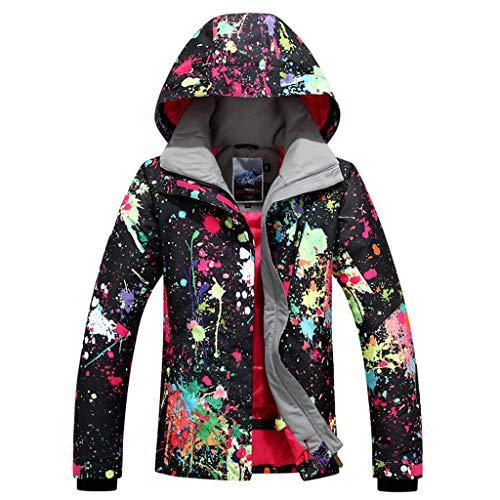 APTRO Damen Skijacke warm Jacke gefüttert Winter Jacke Regenjacke Schwarz 9896 S